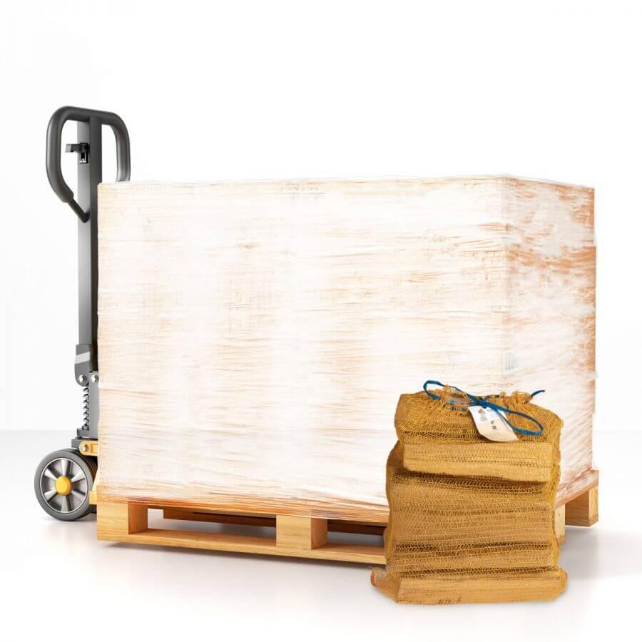 Palette bûches de bois de chauffage 31 cm 25 dm3