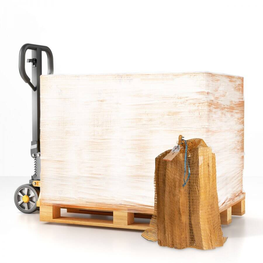 Palette bûches de bois de chauffage 49 cm