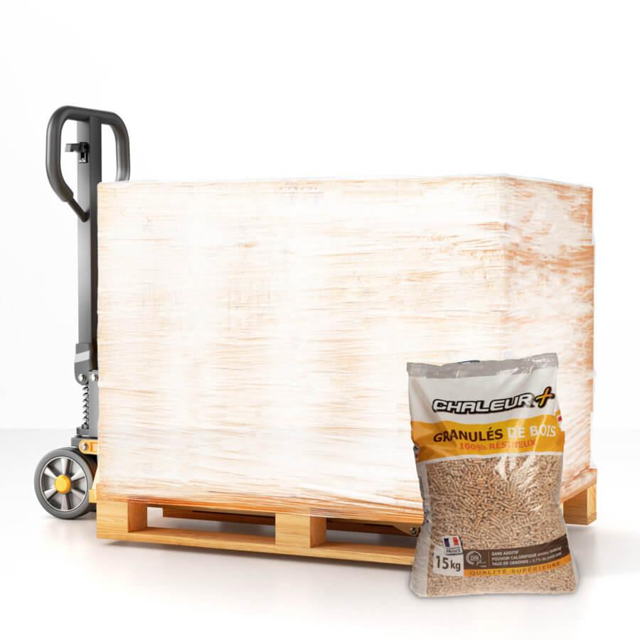 Palette granulés de bois