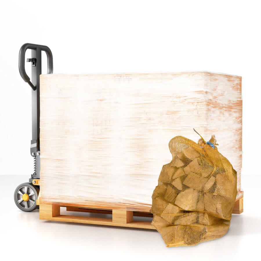 Palette bûches de bois de chauffage 31 cm 50 dm3 Vosges